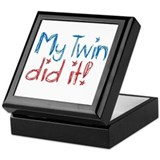 My Twin Did It! (2) Keepsake Box