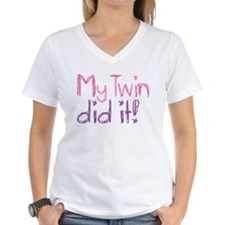 My Twin Did It! Shirt