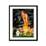 Mideve / 2 Poodles( BW) Framed Panel Print