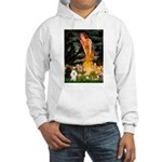 Mideve / 2 Poodles( BW) Hooded Sweatshirt