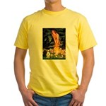 Mideve / 2 Poodles( BW) Yellow T-Shirt