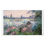 Seine / Poodle (Silver) Rectangle Sticker 50 pk)