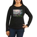 Seine / Poodle (Silver) Women's Long Sleeve Dark T