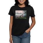 Seine / Poodle (Silver) Women's Dark T-Shirt