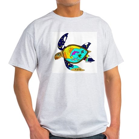 Earth Day Sea Turtle Light T-Shirt