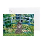 Bridge / Poodle (Silver) Greeting Card