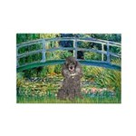 Bridge / Poodle (Silver) Rectangle Magnet