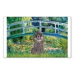 Bridge / Poodle (Silver) Sticker (Rectangle)