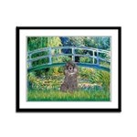 Bridge / Poodle (Silver) Framed Panel Print