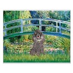 Bridge / Poodle (Silver) Small Poster