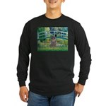 Bridge / Poodle (Silver) Long Sleeve Dark T-Shirt