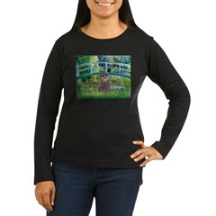 Bridge / Poodle (Silver) Women's Long Sleeve Dark