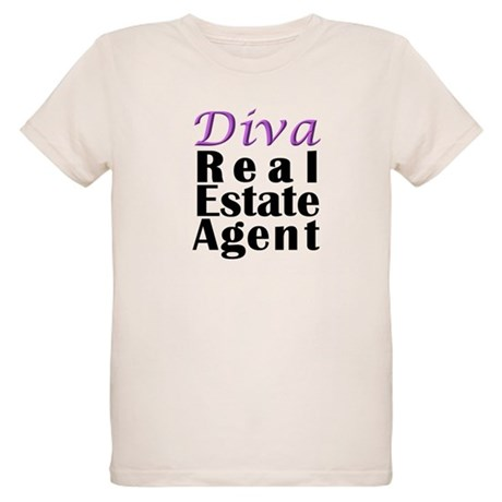 Diva Real estate Agent Organic Kids T-Shirt