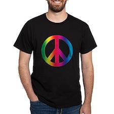 PEACE SYMBOL Black T-Shirt