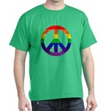 PEACE SYMBOL Black T-Shirt