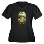 Fairfax County Police Women's Plus Size V-Neck Dar