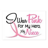 Pink For My Hero 3 NIECE Postcards (Package of 8)