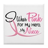 Pink For My Hero 3 NIECE Tile Coaster