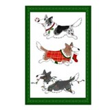 Three Cardigan Corgis Postcards (Package of 8)