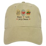 Peace Love Jelly Beans Baseball Cap