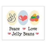 Peace Love Jelly Beans Small Poster