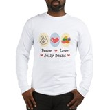 Peace Love Jelly Beans Long Sleeve T-Shirt
