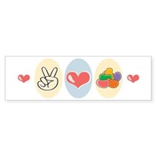 Peace Love Jelly Beans Bumper Sticker (10 pk)
