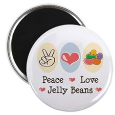 "Peace Love Jelly Beans 2.25"" Magnet (100 pack)"