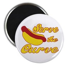 "Serve the Curve 2.25"" Magnet (100 pack)"