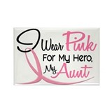 Pink For My Hero 3 AUNT Rectangle Magnet (10 pack)