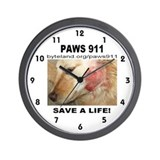 Paws 911 Wall Clock