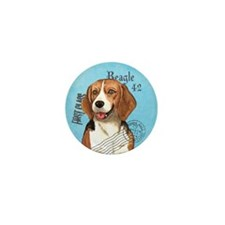 Beagle Stamp Mini Button