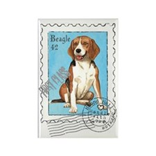 Beagle Stamp Rectangle Magnet