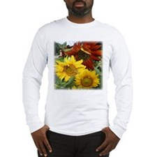 Three sunflowers Long Sleeve T-Shirt