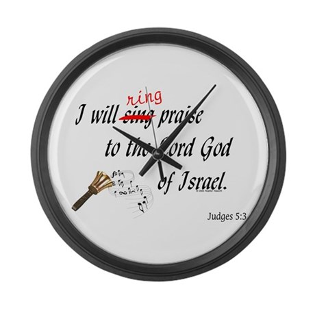 Ring Praise Large Wall Clock