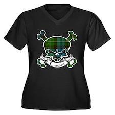 Lamont Tarta Women's Plus Size V-Neck Dark T-Shirt