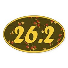 26.2 Pattern Oval Sticker (10 pk)
