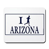 Men's I Run Arizona Mousepad