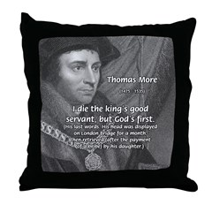 Thomas More Utopia Throw Pillow