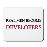 Real Men Become Developers Mousepad