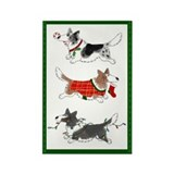 Three Cardigan Corgis Rectangle Magnet (10 pack)