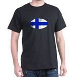Oval Finnish flag T-Shirt