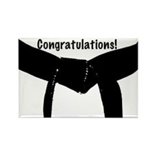 Black Belt Congratulations Rectangle Magnet