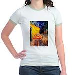 Cafe / Rhodesian Ridgeback Jr. Ringer T-Shirt