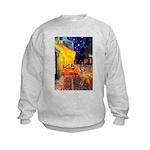 Cafe / Rhodesian Ridgeback Kids Sweatshirt