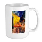 Cafe / Rhodesian Ridgeback Large Mug
