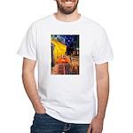 Cafe / Rhodesian Ridgeback White T-Shirt