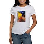 Cafe / Rhodesian Ridgeback Women's T-Shirt