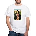 Mona / Rhodesian Ridgeback White T-Shirt