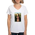 Mona / Rhodesian Ridgeback Women's V-Neck T-Shirt